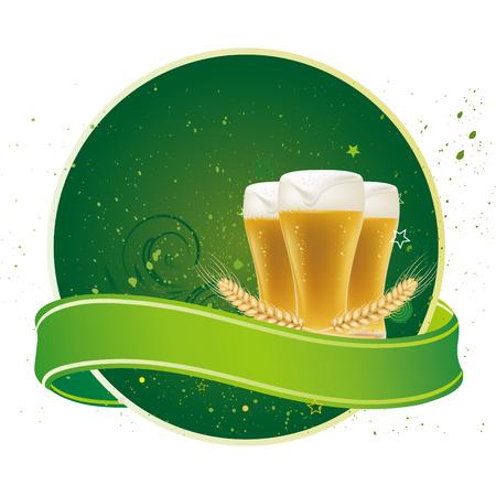 design element for beer Vector