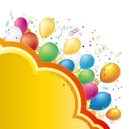 balloon celebration background Stock Vector - 7923820