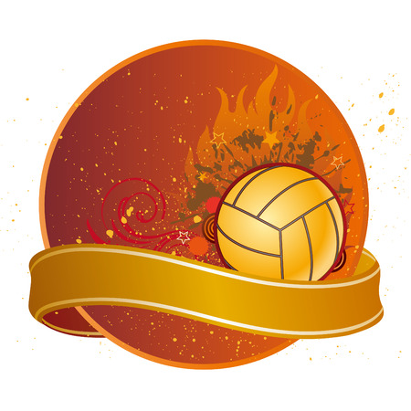design elements for volleyball sport Vector