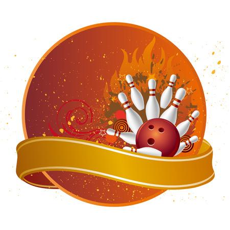 bolos: elementos de dise�o para el deporte de bolos  Vectores