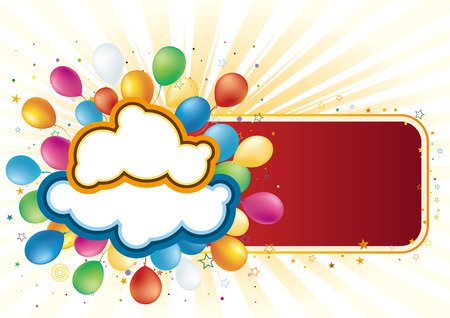 balloon,  celebration background Stock Vector - 7958623