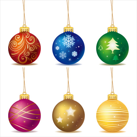 isolated:  christmas ball