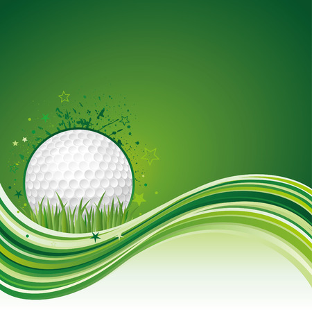 golf equipment:  illustration of golf sport