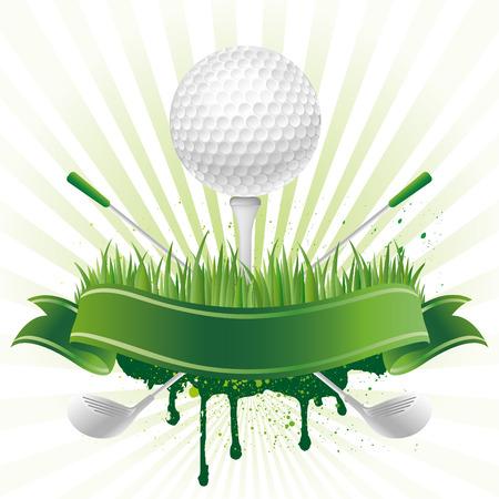 golf sport design element Ilustração