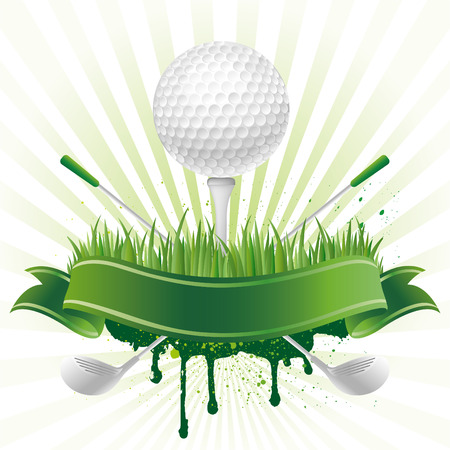 golf green:   golf sport design element Illustration