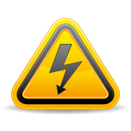 voltage sign on white background Stock Vector - 8058078