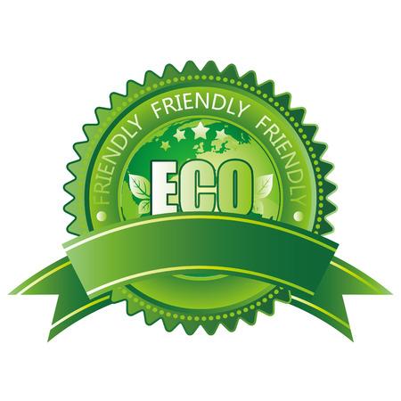 green eco-friendly icon Vector