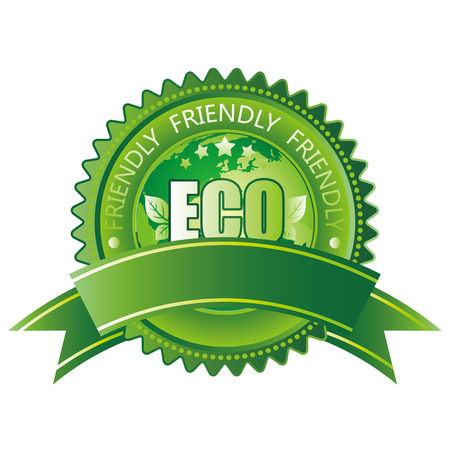 earth friendly:  icono verde de eco-amistoso