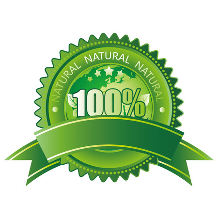 100%  natural sign Stock Vector - 8058099