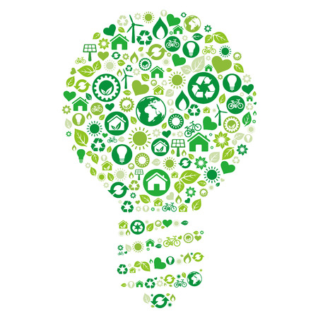 recycle light bulb environment icon Stock Vector - 8069251
