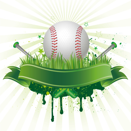 야구:   baseball sport design element 일러스트