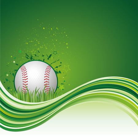 background of baseball sport Vector