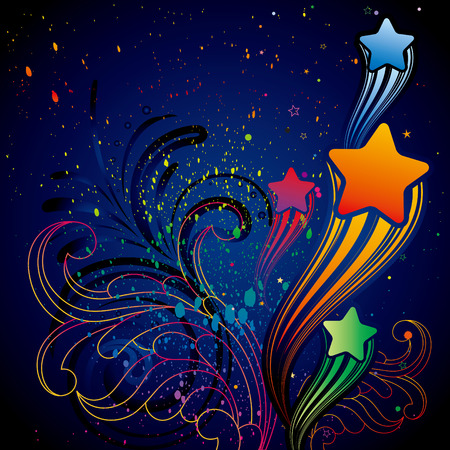 illustration of colorful star Stock Vector - 8121044