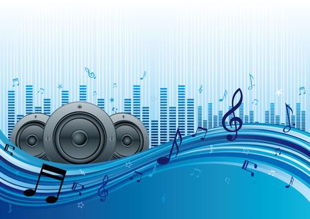 botones musica: Ilustraci�n de abstracta m�sica de fondo  Vectores