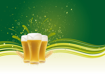beer froth: beer design element,abstract backgrounds Illustration