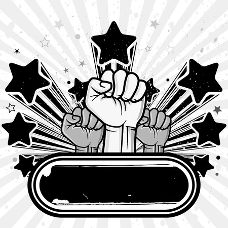 illustration of clenched fist Stock Vector - 8121051