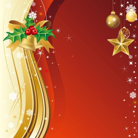 christmas bells: illustration of christmas background Illustration