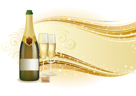 illustration of champagne holiday Vector