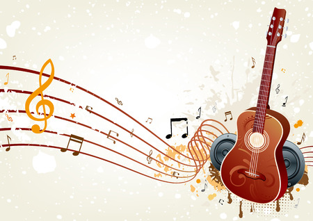 background of music themed Stock Vector - 8174097