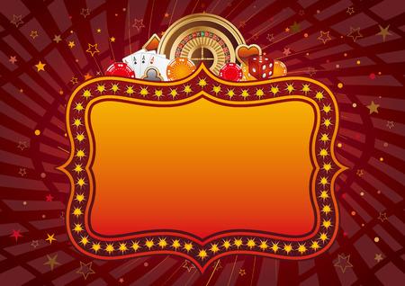 wagers: elementos de dise�o de Casino y signo de ne�n, fondo abstracto