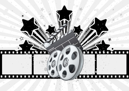 background for movie theme Stock Vector - 8174106