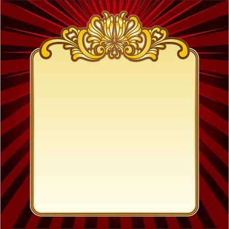 古美術品: ゴールド ベクトルの装飾的なフレーム