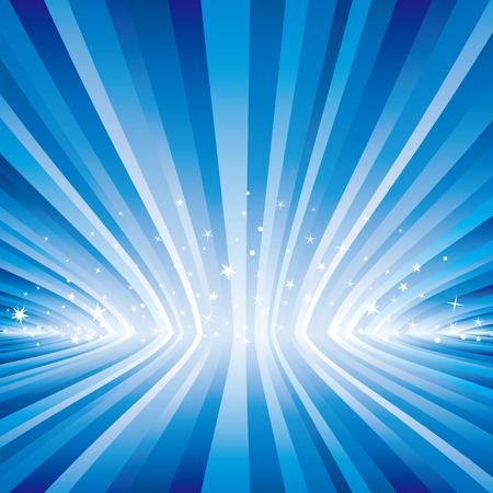blue light and starry background Vector