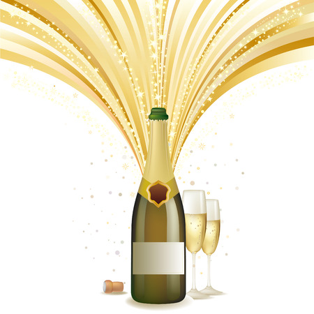 champagne celebration:   illustration of champagne holiday Illustration