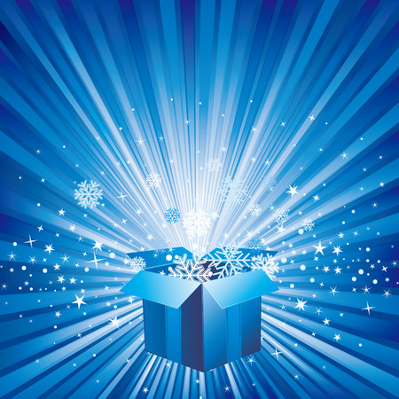 christmas celebration background and gift box Vector