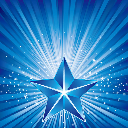 3d star and abstarct background Stock Vector - 8230012