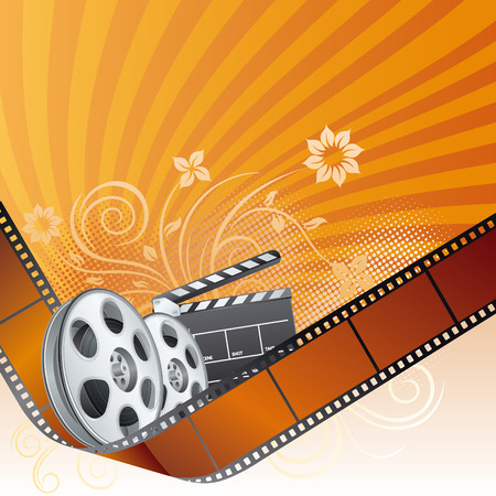 film strip,movie theme element Vector