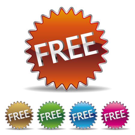 무료 starburst 레이블 세트