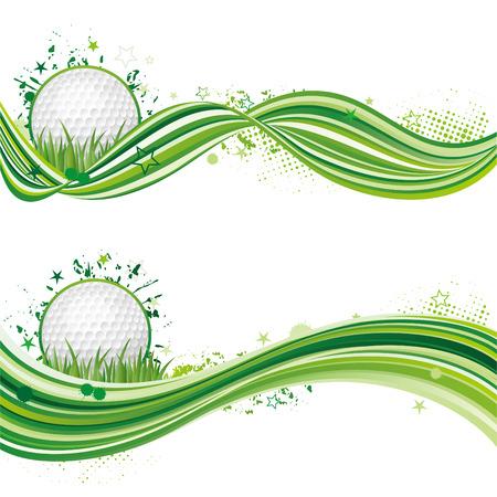 golf equipment:   illustration of golf sport