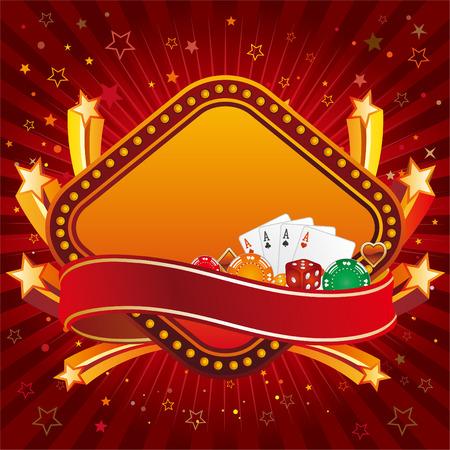 wagers: elemento de dise�o de Casino y la explosi�n de estrellas  Vectores