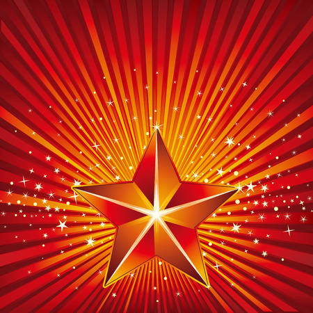 3d star and abstarct background Stock Vector - 8265706