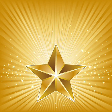 3d star and abstarct background Stock Vector - 8286221