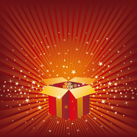 christmas celebration background and gift box Stock Vector - 8286220