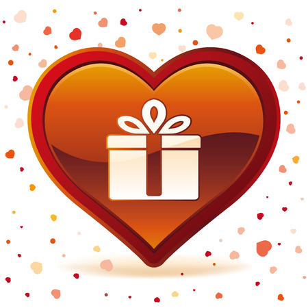 vector illustration of valentines day gift Vector