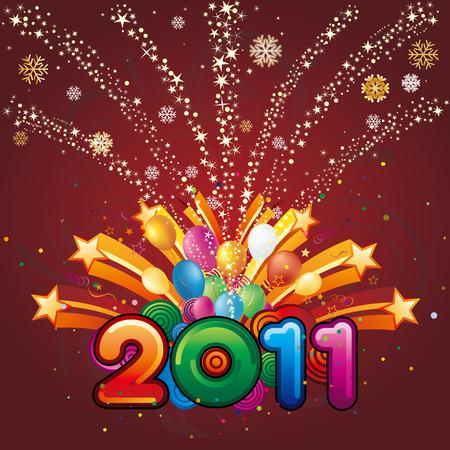 new opportunity: illustration of new year 2011 Illustration