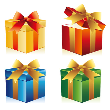 gift box with ribbon Stock Vector - 8367102