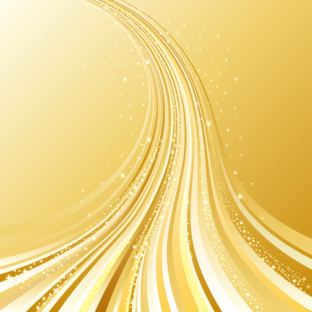 abstract golden flowing background Vector