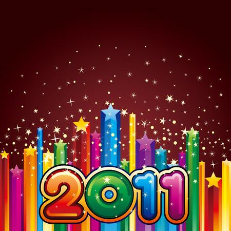new opportunity:   illustration of happy new year 2011 Illustration