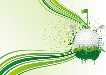 background of golf sport Vector