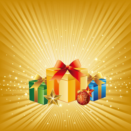 illustration of christmas gift Vector
