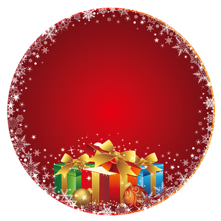 christmas celebration background and gift box Stock Vector - 8456481
