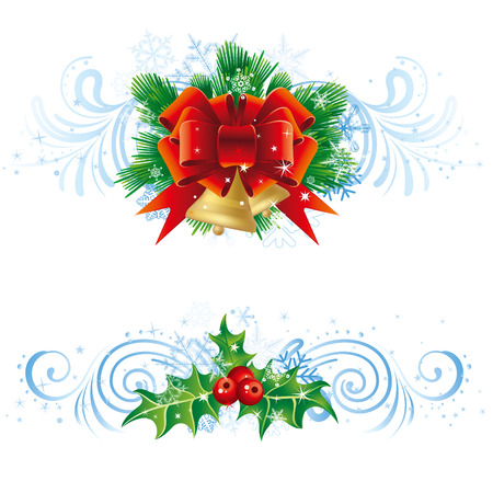 christmas vector design with snowflake decoration Vector