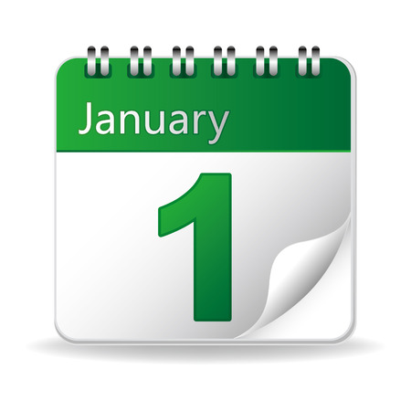 calendar icon on white background Stock Vector - 8468856