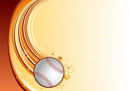 baseballs: Background of baseball sport Illustration