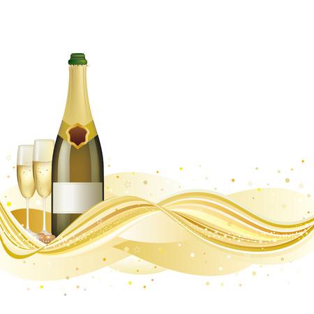 bollicine champagne: Champagne celebrano la festa