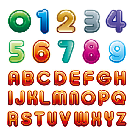 alphabet and number samples Vector